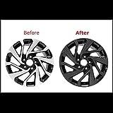Chrome Delete Vinyl Kit Blackout Trim Overlay for 2016-20 Honda Civic 16' Wheels Rim (Gloss Black)