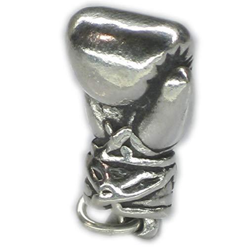 Boxhandschuh Sterling Silber Anhänger .925 x 1 Boxer Handschuhe sslp3247