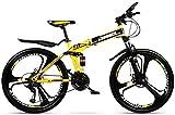 Ligero, Plegable de 24 pulgadas for adultos de bicicletas de montaña, bicis de doble freno de disco de la nieve, la suspensión completa de bicicletas, ruedas de aleación de magnesio Liquidación de inv