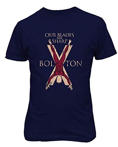 Dazzle T-shirt Hombres Nuestras Cuchillas Son afiladas Divertida impresión gráfica Novedad Camiseta
