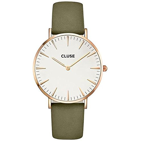 Cluse Damen-Armbanduhr Analog Quarz Leder CL18023