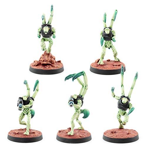 War World Gaming Sci-Fi Miniature Alien Mantids Full Set – 28mm Heroic Scale Sci-Fi Wargame Miniatures Figures Model Painting Minis Police Enforcer Wargaming
