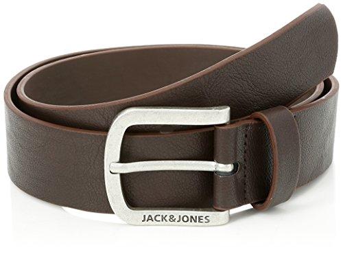 JACK & JONES Jacharry Belt Noos Cinturón, Marrón Black Coffee, 120 (Talla del fabricante: 105) para Hombre