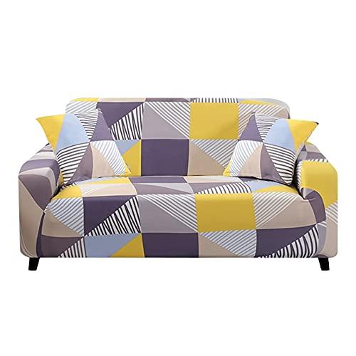 WXQY Funda de sofá de Esquina, Funda de sofá de Sala de Estar, Funda de sofá de combinación elástica y elástica, Necesidad de Comprar 2 Piezas A2 de 4 plazas en Forma de L