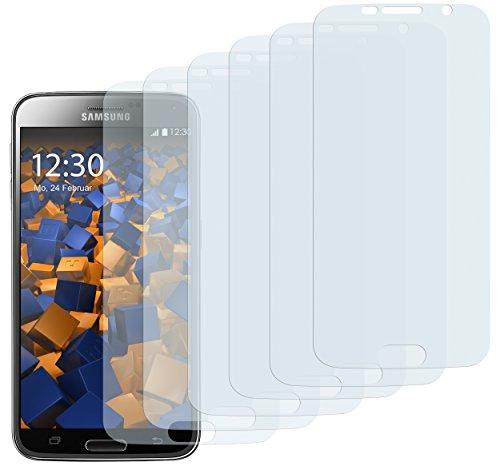mumbi Schutzfolie kompatibel mit Samsung Galaxy S6 Folie, Galaxy S6 Duos Folie klar, Displayschutzfolie (6x)