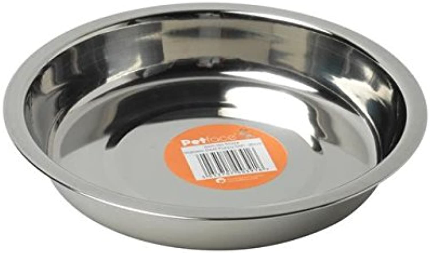 Petface Stainless Steel Shallow Dish (PACK OF 6)