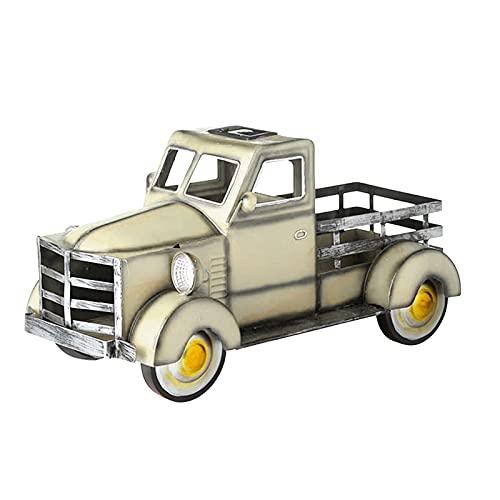 Reooly Retro-Stil Solar Pickup Truck Gartendekoration Blumentopf Dekoration