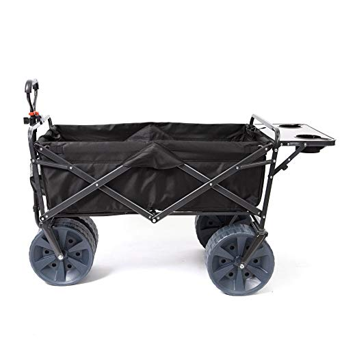 Mac Sports Heavy Duty Collapsible Folding All Terrain Utility Wagon Beach Cart...