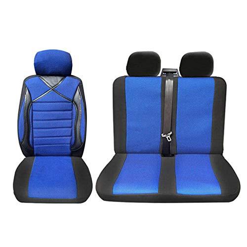 OMAC GmbH Blau-Schwarz Auto Schonbezüge Sitzbezug für T4 IV Transporter Multivan Caravelle Sitzbezüge Schoner Vorne 1+2