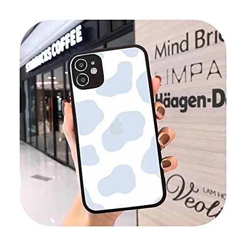 Mosaico pintura simple moda teléfono caso mate transparente para iPhone 7 8 11 12 s mini pro X XS XR MAX Plus cover-a2-iPhoneXs max