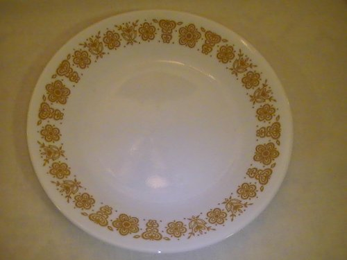 "Corning Corelle Butterfly Gold Bread & Butter Plates 6 3/4"" - Four Plates"