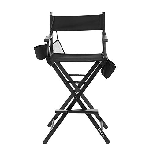Silla de director plegable, artista de maquillaje plegable silla de madera silla...