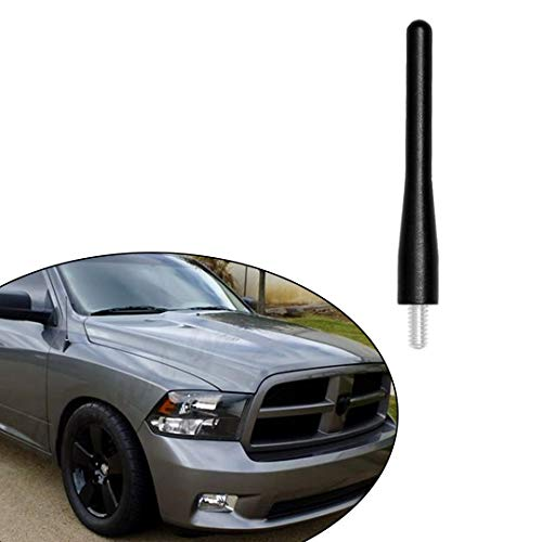 "Direct Replacement fits 2009-2020 Dodge RAM 1500 Truck Black Short Screw Thread Performance 3.6"" Antenna Mast Whip"