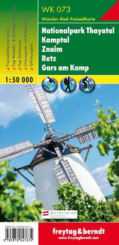 Freytag Berndt Wanderkarten, WK 073, Nationalpark Thayatal - Kamptal - Znaim - Retz - Gars am Kamp - Maßstab 1:50.000