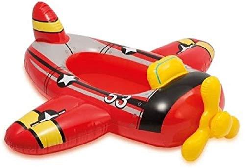 Bavaria Home Style Collection Aufblasbares Kinderboot Schlauchboot Boot Pool-Cruiser Schwimmsitz Schwimmboot Wasserspielzeug für Pool Wasser Bade-See Meer Motiv Flugzeug Auto Fisch (Flugzeug)