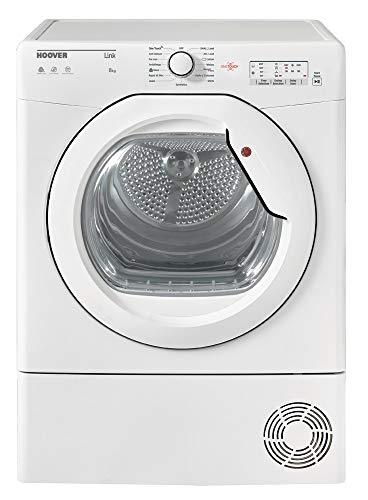 Hoover HLC8LG Freestanding Condenser Tumble Dryer, Sensor Dry, 8 kg, White