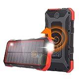 Solar Power Bank, 25000mAh Sendowtek PD 18W Fast Charging 7.5W/10W Qi Wireless...