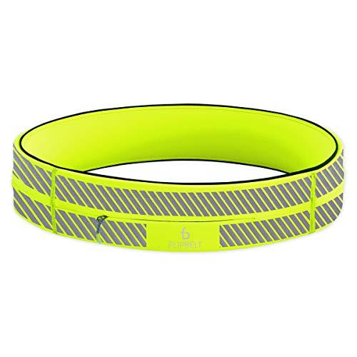 flipbelt zipper reflective neon yellow