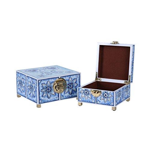 Neo-klassieke woonkamer zwarte sieradendoos thuis sluit de huisdecoratie TV-kast Dresser sieraden box decoratie