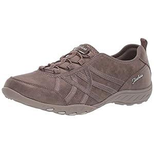 Skechers womens Breathe-easy - Days End Sneaker, Dark Taupe, 10 US