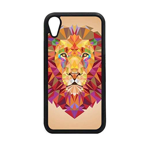 Kleurrijke Leeuw Dieren Doos Borduurwerk iPhone XR iPhonecase Cover Apple Telefoonhoesje