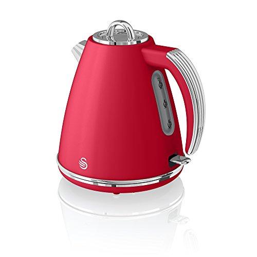 Swan 1.5L Jug Kettle-Red hervidor de agua, 3000 W, Acero Inoxidable, Rojo