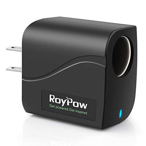 RoyPow AC to DC Converter Power Supply Transformer 2A/24W AC/DC Adapter 110V/120V to 12V Car Cigarette Lighter Socket, Not for Pump, Inflator