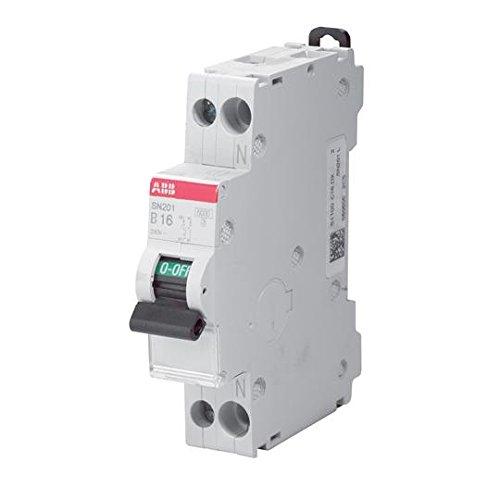 ABB Interruttore Automatico Magnetotermico 1P+N 4,5 Ka Curva C 1 Modulo Din SN201LC16 (16 Ampere)