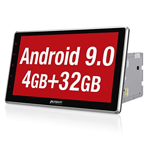PUMPKIN Android 9.0 Autoradio Moniceiver 4GB / 8 Core mit Navi 10,1 Zoll Bildschirm Unterstützt Bluetooth DAB + Android Auto WiFi 4G USB MicroSD 2 Din Universal