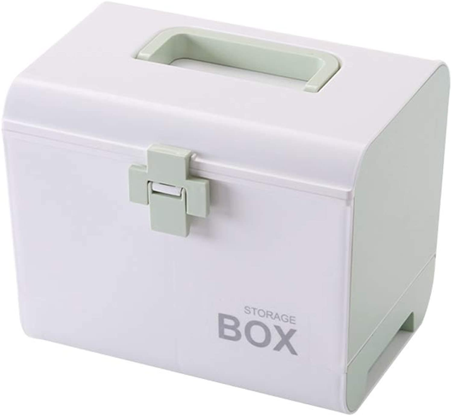 Djyyh First Aid Case Medical Container with Small Cubicle, Emergency Cabinet Storage Pill Container Box (color   Green)