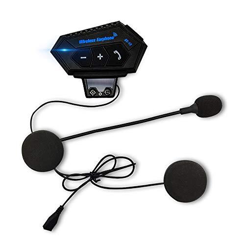3T6B Auriculares Moto Bluetooth, Casco Auricular con Sistema de ComunicacióN Manos Libres y FuncióN de ReduccióN de Ruido, para una Variedad de Montados en Casco