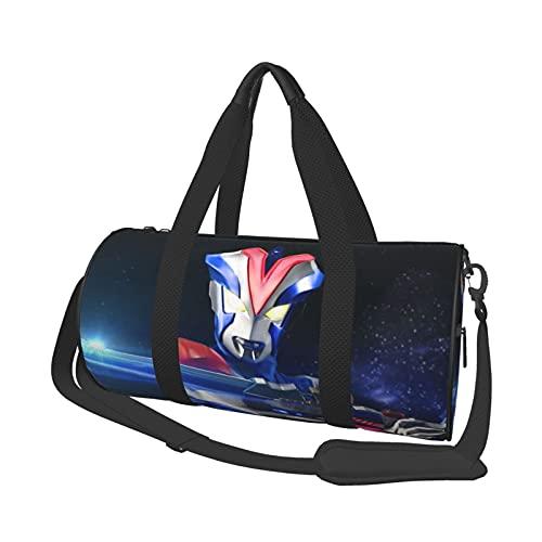 ULT-Ra-Man Runde Reisetasche, Turnbeutel, Duffle-Paket für Sport, Wochenende, Reisetaschen, Schultertaschen, 45,9 x 22,9 cm