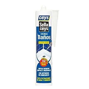 41zdHOouCoL. SS300  - Ceys M128790 - Silicona sellaceys cocina - baño 280ml-transparente