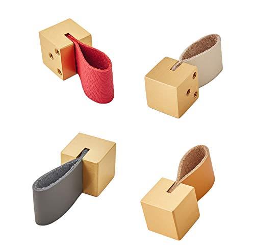 3 piezas Perillas de Gabinete de Cuero Tiradores de Cajón de Cuero Perillas de Puertas de Armario Uso de Doble Cara Pomos Y Tiradores