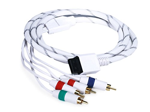 Monoprice 6-Feet Audio Video ED Component Cable for Wii and Wii U - White (105689)