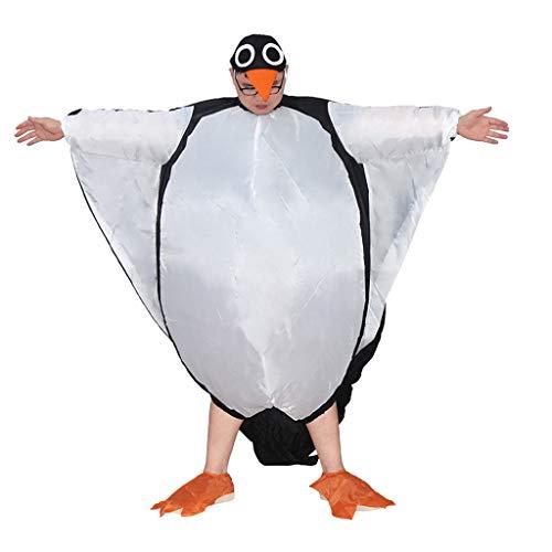 MISLD Aufblasbares Pinguin-Kostüm Halloween Cosplay Aufblasbarer Anzug, Festliches Party-Kleidungsset, Karneval-Party-Event Lustige Kostüme