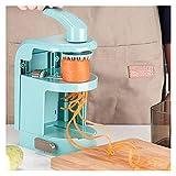 aolongwl Rebanadora 5 en 1 Espiralizador Creativo Vegetal Slicer con 4 Fabricantes Espagueti Tallarines Slicer Rotating Pasta...