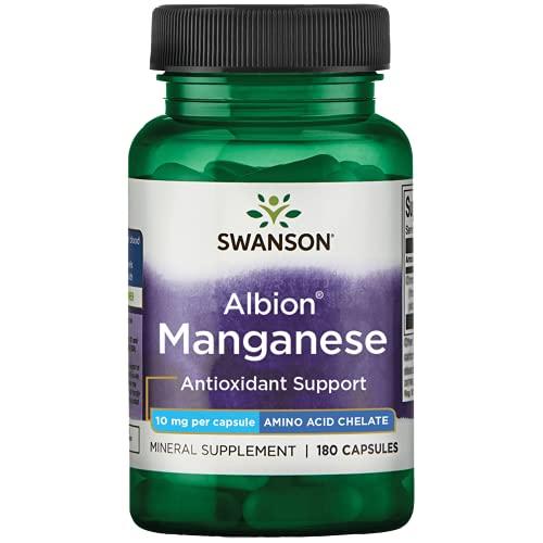 Swanson Albion Chelated Manganese 10 Milligrams 180 Capsules