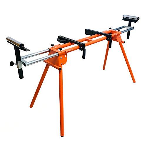 Forest Master Banco de trabajo con soporte de rodillo para sierra ingletadora