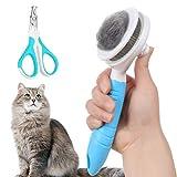 Cepillo para gatos, cepillos de limpieza automática para eliminar suavemente la capa interior suelta, alfombrillas y cepillo de aseo para gatos y perros, Masaje para mascotas