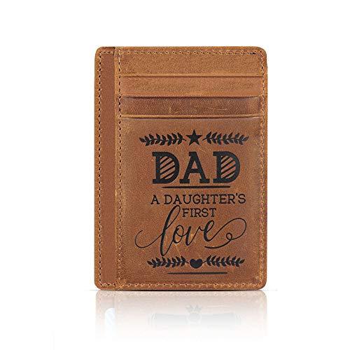Geschenke für Vater, Vater, Geschenke für Weihnachten, schmal, minimalistisch, Kartenhalter, RFID-blockierend - - Medium