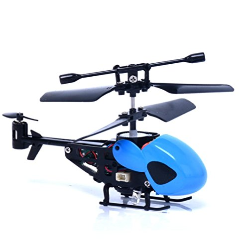 LUCKDE Rc Helikopter Ferngesteuert, Mini Drohne 2 Kanal Helikopter Hubschrauber Spielzeug Kinder Quadcopter Drohne Helikopter Ferngesteuert (Blau)