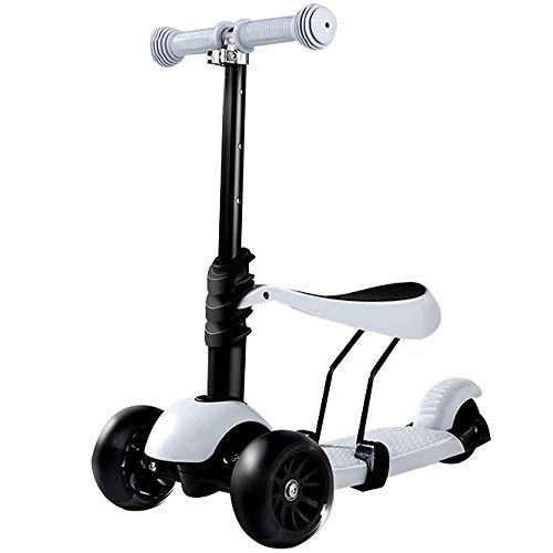Folding 3-Wheel Scooter Scooter para niños es un Scooter con Ruedas Adecuado para niños y niños, Ajuste de múltiples velocidades, Ruedas de Destello Colorido, Adecuado para niños de 1 a 3 años