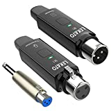 Microphone Wireless System LEKATO 2.4GHz XLR Transmitter and Receiver for Dynamic Microphone, Audio...