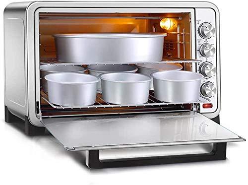 RTOPW 70L Profesional Grande de sobremesa Horno - 2200 vatios 120 Minutos Temporizador con Parrilla Parrilla Tenedor y la Bandeja de miga de Pan Pan - Plata