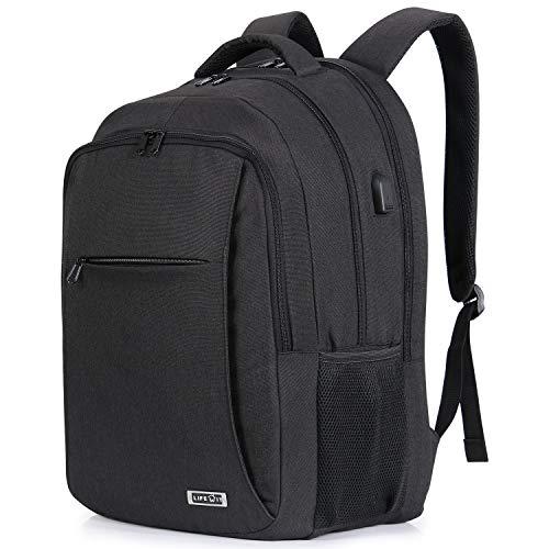 Lifewit Zaino Porta PC per Laptop da 17 Pollici per Uomo Slim Business Zaino con Porta USB di Ricarica, Nero