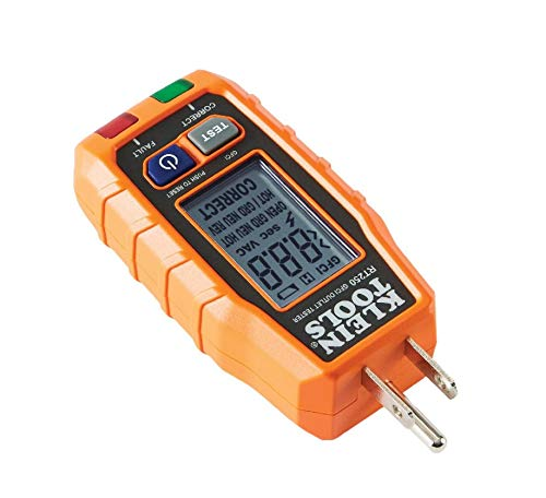 GFCI Receptacle Tester with LCD Display for Standard 3Wire 120V Electrical Outlets Klein Tools RT250