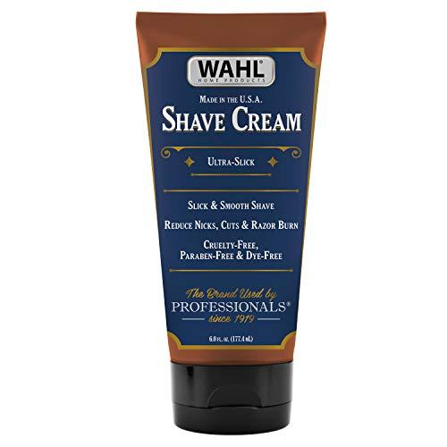 Wahl Shave Cream for Grooming Sensitive Skin with Essential Oils for Reducing Nicks, Cuts, Razor Buildup - Manuka Oil, Meadowfoam Seed Oil, Clove Oil, Moringa Oil – 6 Oz