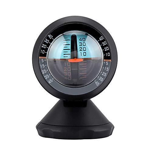 Inclinómetro del Coche, Indicador de Inclinación del Nivel del Equilibrador del Gradiente con Rotación de 360 Grados con Adhesivo para Vehículos Todoterreno y Suministros de Viaje Autónomos