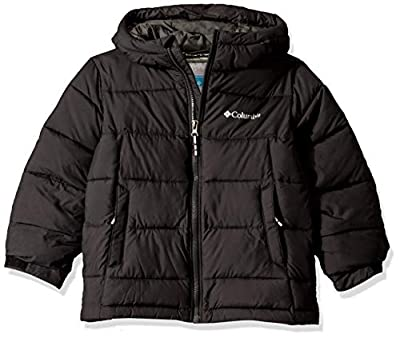 Columbia Youth Pike Lake Jacket, Waterproof & Breathable, Black, Medium